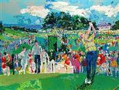 Original Leroy Neiman April in Augusta Litograph Ltd. Edition Matted and Framed